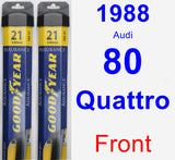 Front Wiper Blade Pack for 1988 Audi 80 Quattro - Assurance