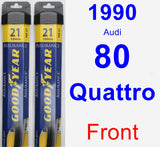 Front Wiper Blade Pack for 1990 Audi 80 Quattro - Assurance