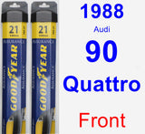 Front Wiper Blade Pack for 1988 Audi 90 Quattro - Assurance