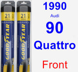 Front Wiper Blade Pack for 1990 Audi 90 Quattro - Assurance