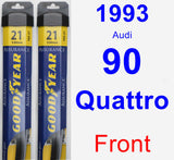 Front Wiper Blade Pack for 1993 Audi 90 Quattro - Assurance