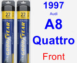 Front Wiper Blade Pack for 1997 Audi A8 Quattro - Assurance