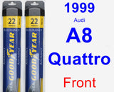 Front Wiper Blade Pack for 1999 Audi A8 Quattro - Assurance