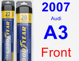 Front Wiper Blade Pack for 2007 Audi A3 - Assurance