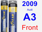 Front Wiper Blade Pack for 2009 Audi A3 - Assurance