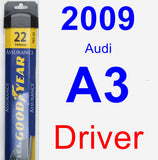 Driver Wiper Blade for 2009 Audi A3 - Assurance