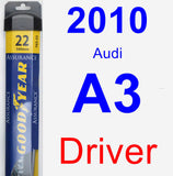 Driver Wiper Blade for 2010 Audi A3 - Assurance