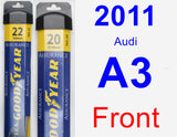 Front Wiper Blade Pack for 2011 Audi A3 - Assurance