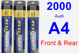 Front & Rear Wiper Blade Pack for 2000 Audi A4 - Assurance