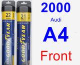 Front Wiper Blade Pack for 2000 Audi A4 - Assurance