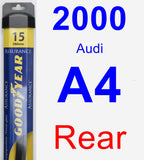 Rear Wiper Blade for 2000 Audi A4 - Assurance