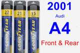 Front & Rear Wiper Blade Pack for 2001 Audi A4 - Assurance