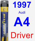 Driver Wiper Blade for 1997 Audi A4 - Assurance