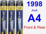Front & Rear Wiper Blade Pack for 1998 Audi A4 - Assurance