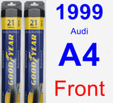 Front Wiper Blade Pack for 1999 Audi A4 - Assurance