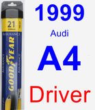 Driver Wiper Blade for 1999 Audi A4 - Assurance