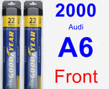 Front Wiper Blade Pack for 2000 Audi A6 - Assurance