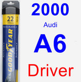 Driver Wiper Blade for 2000 Audi A6 - Assurance