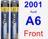 Front Wiper Blade Pack for 2001 Audi A6 - Assurance