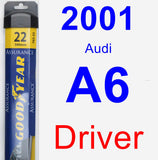Driver Wiper Blade for 2001 Audi A6 - Assurance