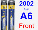 Front Wiper Blade Pack for 2002 Audi A6 - Assurance