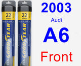 Front Wiper Blade Pack for 2003 Audi A6 - Assurance