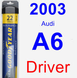 Driver Wiper Blade for 2003 Audi A6 - Assurance