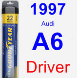 Driver Wiper Blade for 1997 Audi A6 - Assurance