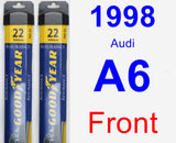 Front Wiper Blade Pack for 1998 Audi A6 - Assurance
