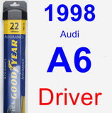 Driver Wiper Blade for 1998 Audi A6 - Assurance