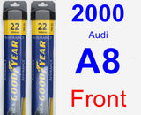 Front Wiper Blade Pack for 2000 Audi A8 - Assurance