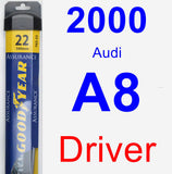 Driver Wiper Blade for 2000 Audi A8 - Assurance