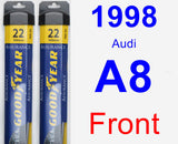 Front Wiper Blade Pack for 1998 Audi A8 - Assurance