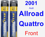 Front Wiper Blade Pack for 2001 Audi Allroad Quattro - Assurance