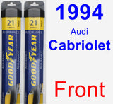 Front Wiper Blade Pack for 1994 Audi Cabriolet - Assurance