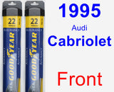 Front Wiper Blade Pack for 1995 Audi Cabriolet - Assurance
