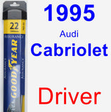 Driver Wiper Blade for 1995 Audi Cabriolet - Assurance
