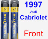 Front Wiper Blade Pack for 1997 Audi Cabriolet - Assurance