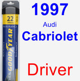 Driver Wiper Blade for 1997 Audi Cabriolet - Assurance