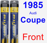 Front Wiper Blade Pack for 1985 Audi Coupe - Assurance