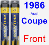 Front Wiper Blade Pack for 1986 Audi Coupe - Assurance
