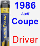 Driver Wiper Blade for 1986 Audi Coupe - Assurance