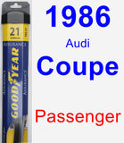 Passenger Wiper Blade for 1986 Audi Coupe - Assurance