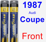 Front Wiper Blade Pack for 1987 Audi Coupe - Assurance