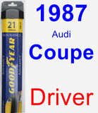 Driver Wiper Blade for 1987 Audi Coupe - Assurance
