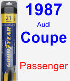 Passenger Wiper Blade for 1987 Audi Coupe - Assurance