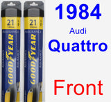 Front Wiper Blade Pack for 1984 Audi Quattro - Assurance