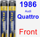 Front Wiper Blade Pack for 1986 Audi Quattro - Assurance