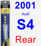 Rear Wiper Blade for 2001 Audi S4 - Assurance