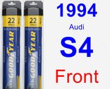 Front Wiper Blade Pack for 1994 Audi S4 - Assurance